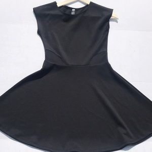 Poof Couture Black Fit and Flare Skater Dress EUC
